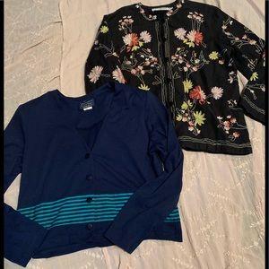 Tops - Bundle of Cardigan & Blazer/Tunic